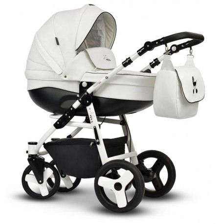 Wózek dziecięcy Cosmo EKO MIX biały Vega stelaż + gondola