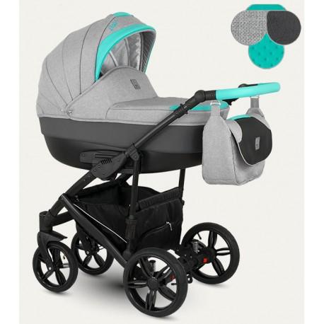 Baleo Camarelo wózek dziecięcy wielofunkcyjny 3w1 różowy