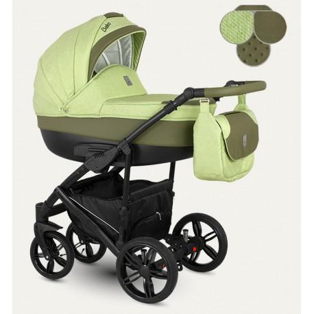 Baleo Camarelo wózek dziecięcy wielofunkcyjny 3w1 szaro-miętowy