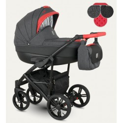 Baleo Camarelo wózek dziecięcy wielofunkcyjny 3w1 niebieski