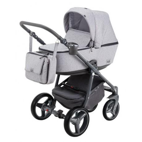 Wózek dziecięcy Reggio Adamex wielofunkcyjny 4w1 (z bazą isofix). Lekki, kompaktowy stelaż