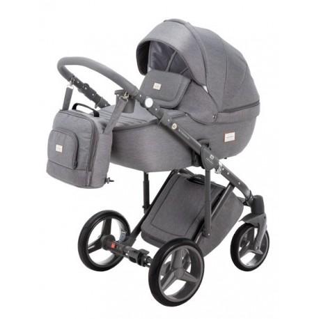 Luciano Adamex wózek dziecięcy wielofunkcyjny 3w1szary