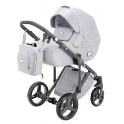Luciano Adamex wózek dziecięcy wielofunkcyjny 3w1 popielaty