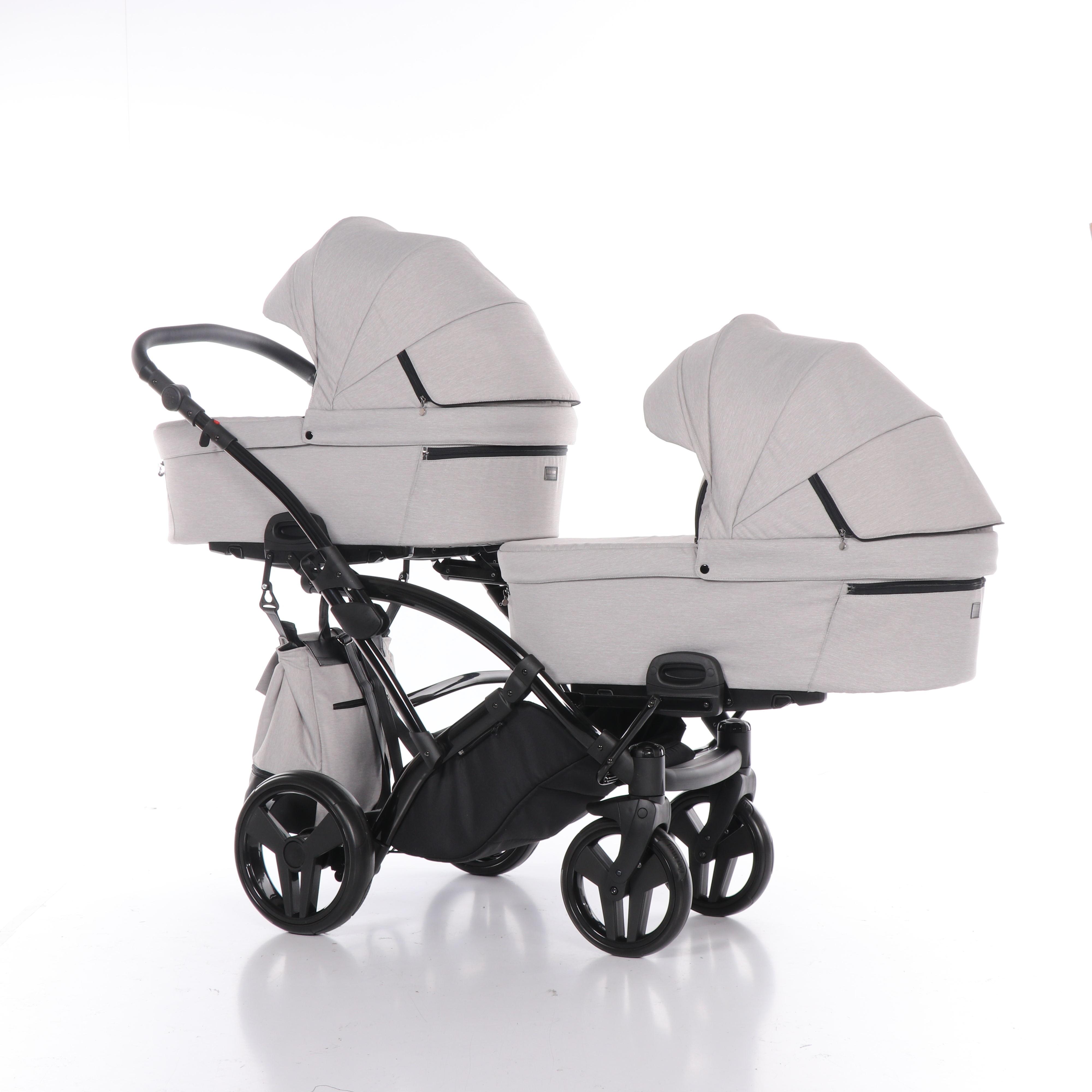 wielofunkcyjny wózek bliźniaczy Artemo Duo Slim jeden za drugim głeboko spacerowy Dadi Shop Tako