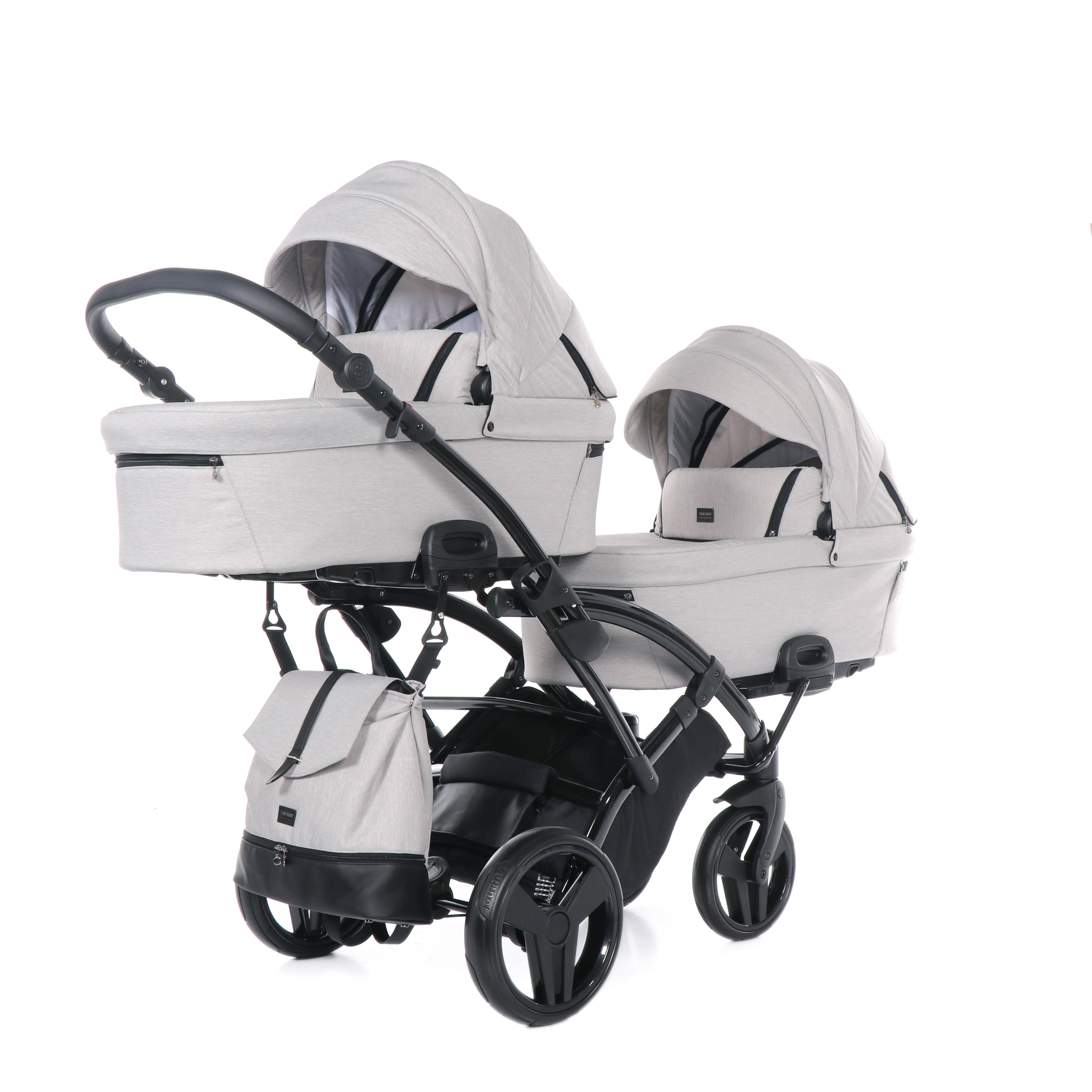 wózek bliźniaczy Artemo Duo Slim wielofunkcyjny dziecięcy Tako głęboko spacerowy