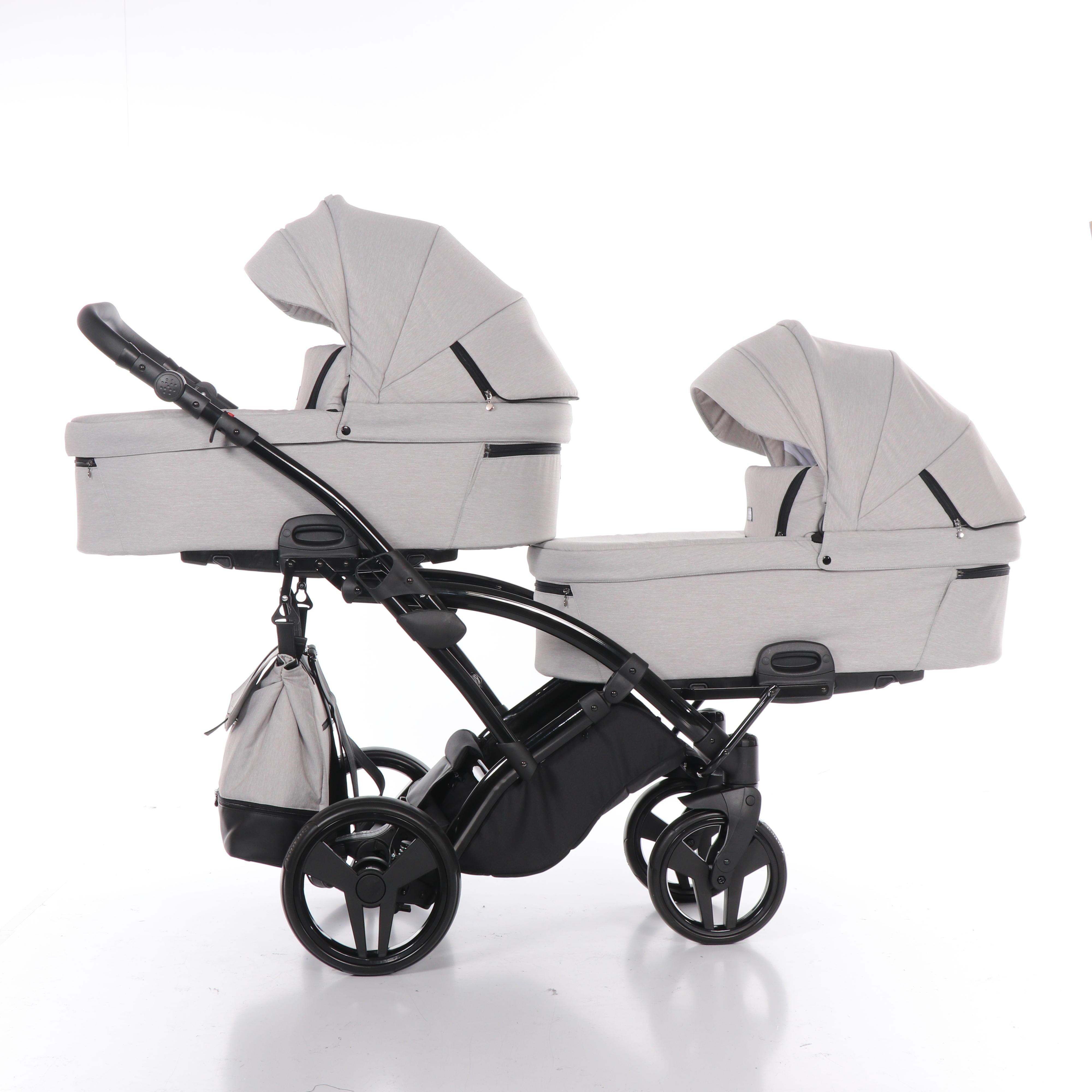 wózek dzieciecy wielofunkcyjny bliźniaczy Artemo Duo Slim Tako gondola