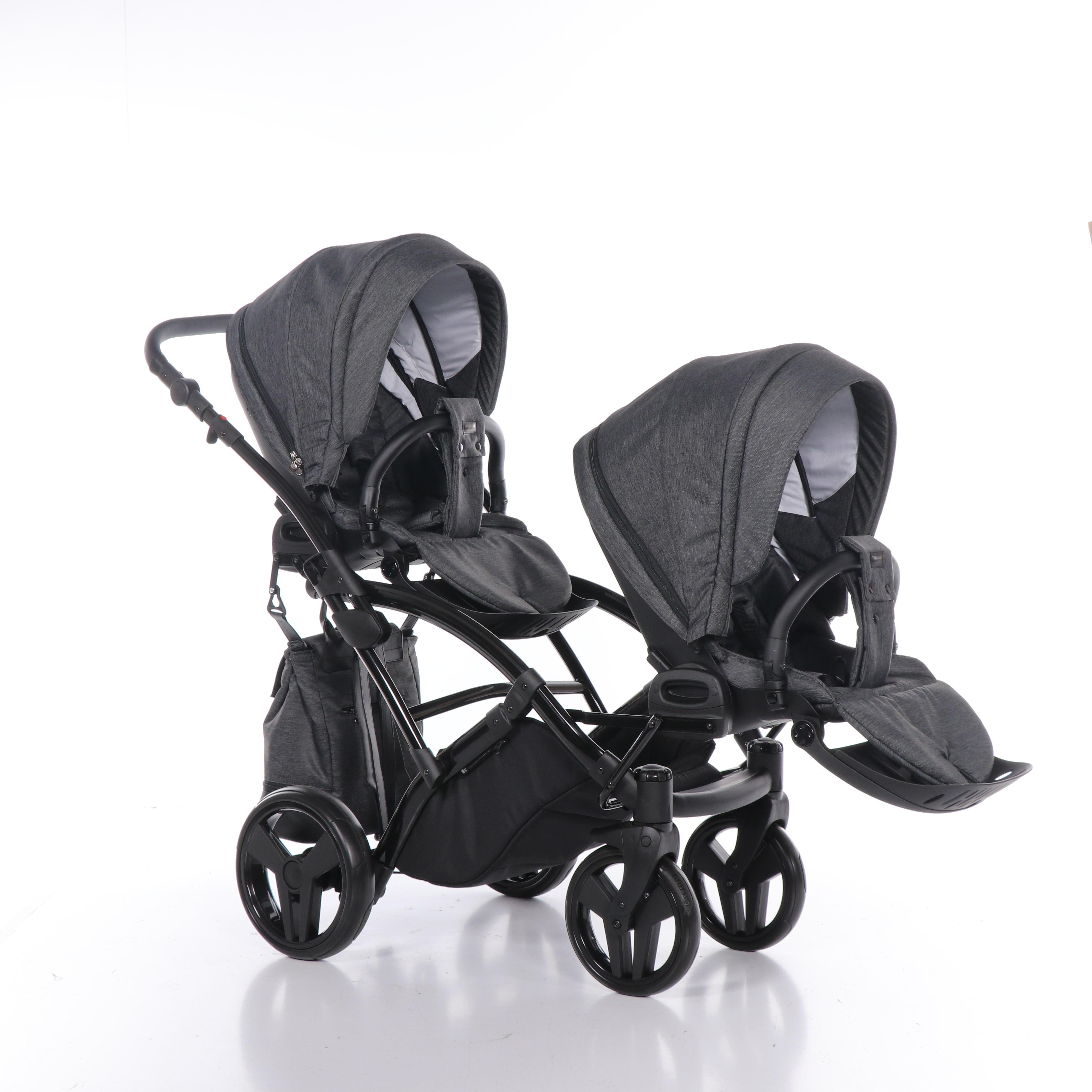 wózek bliźniaczy Artemo Duo Slim wielofunkcyjny dziecięcy Tako spacerówka 2w1