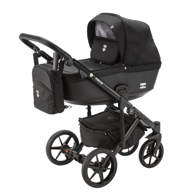 wózek dziecięcy Emilio Adamex czarny