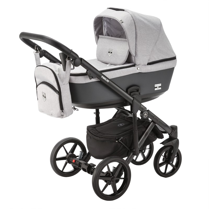 wózek dziecięcy Emilio Adamex szaro-czarny