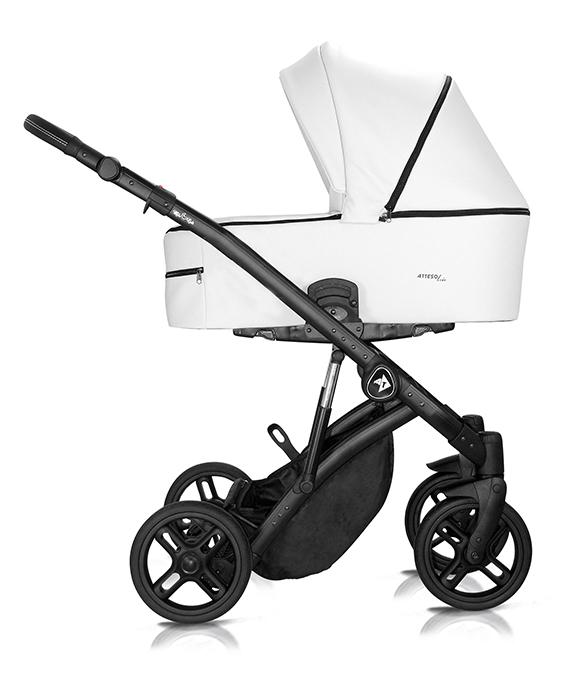 wózek wielofunkcyjny Atteso Ledo dziecięcy Milu Kids eco skóra biały