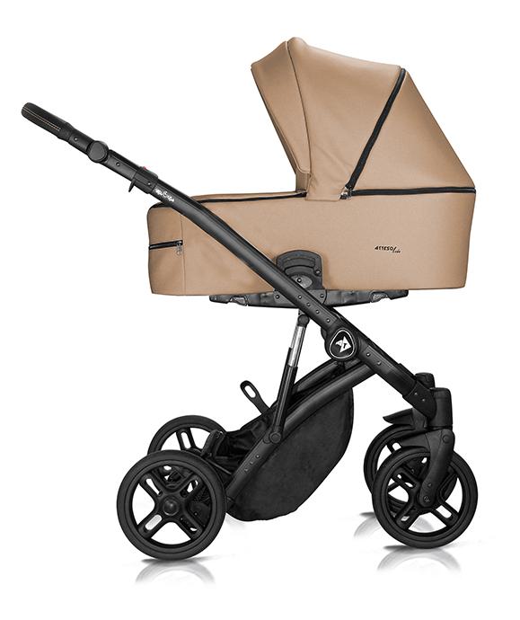 wózek wielofunkcyjny Atteso Ledo dziecięcy Milu Kids eco skóra brązowy