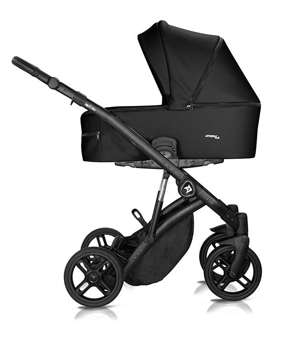 wózek wielofunkcyjny Atteso Ledo dziecięcy Milu Kids eco skóra czarny