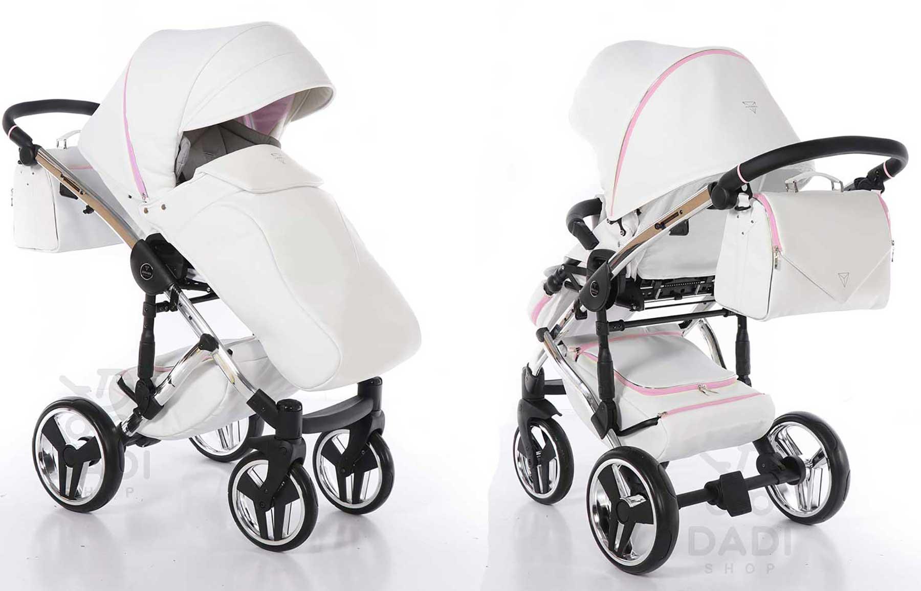 Candy wózek dzieciecy wielofunkcyjny Junama nowoczesny stylowy eco skóra Dadi Shop