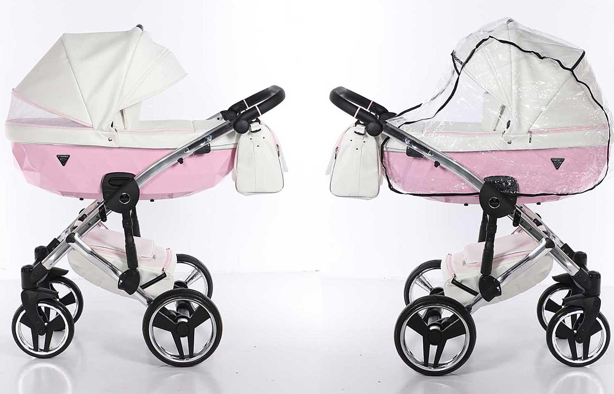 wielofunkcyjny wózek Candy dziecięcy Junama  nowoczesny eco skóra różowy Dadi Shop