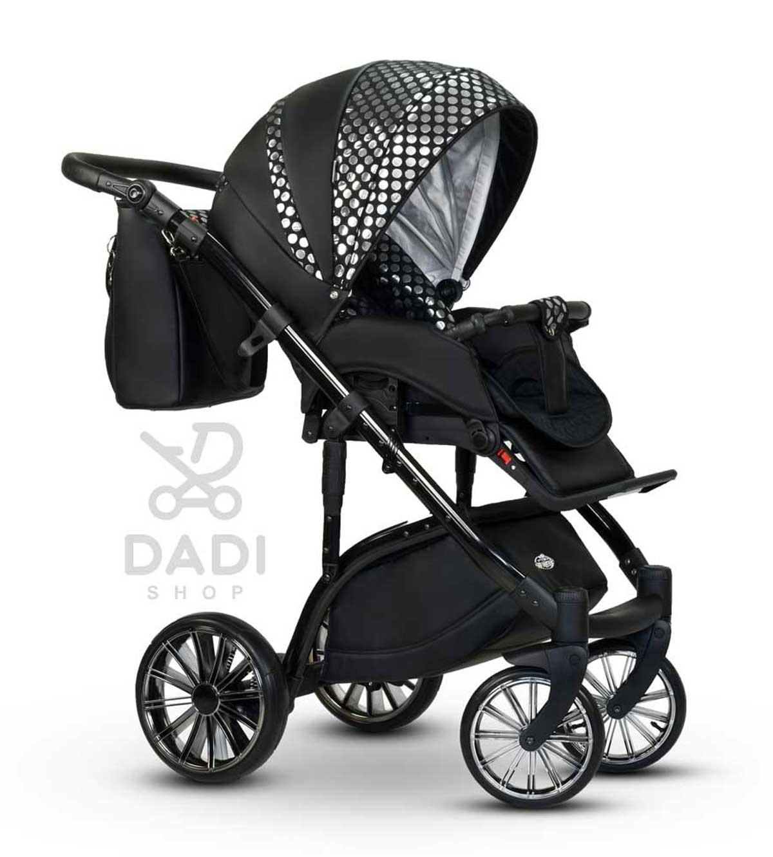 Constellation Wiejar elegancki wózek dziecięcy wielofunkcyjny spacerowy czarno srebrny