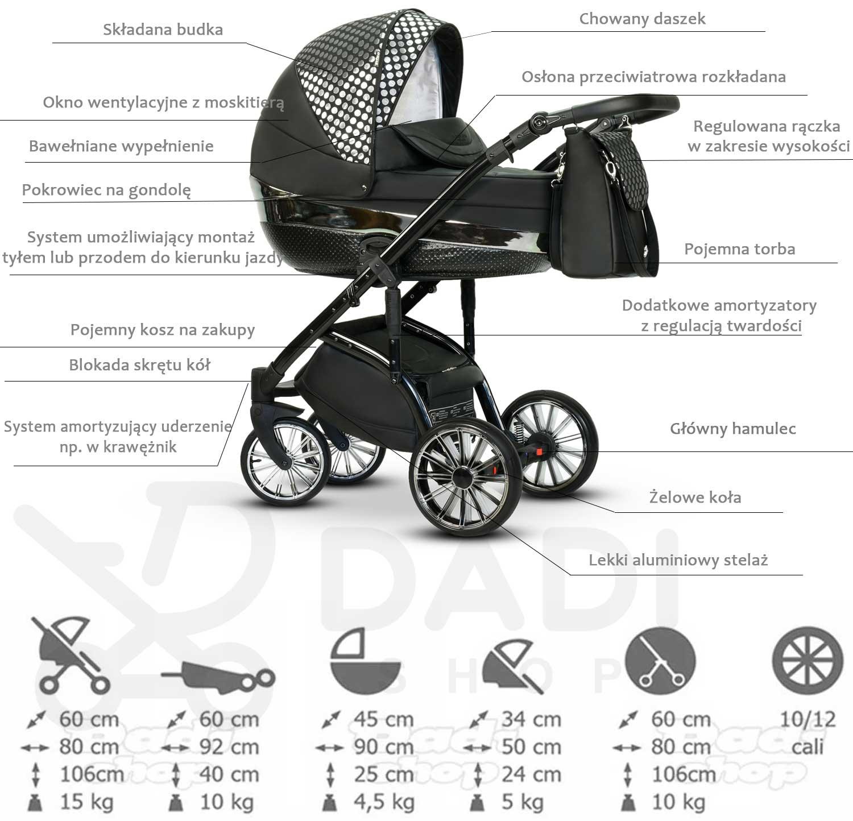 elegancki wózek dziecięcy Constellation wielofunkcyjny Wiejar opis wózka Dadi Shop