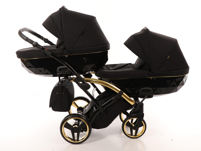 wózek bliźniaczy junama diamond s line duo slim czarny