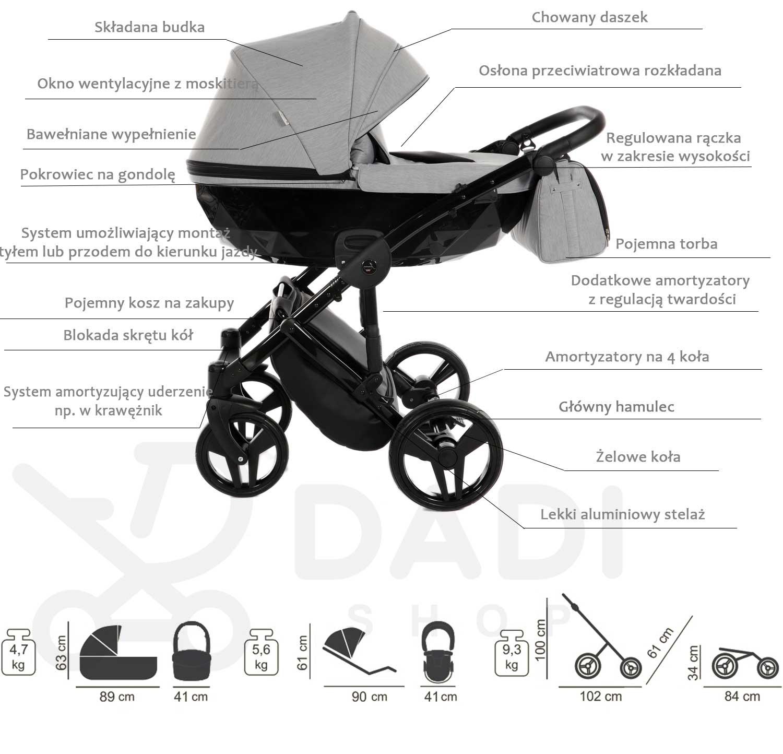 wózek dziecięcy Junama Diamond opis Dadi Shop