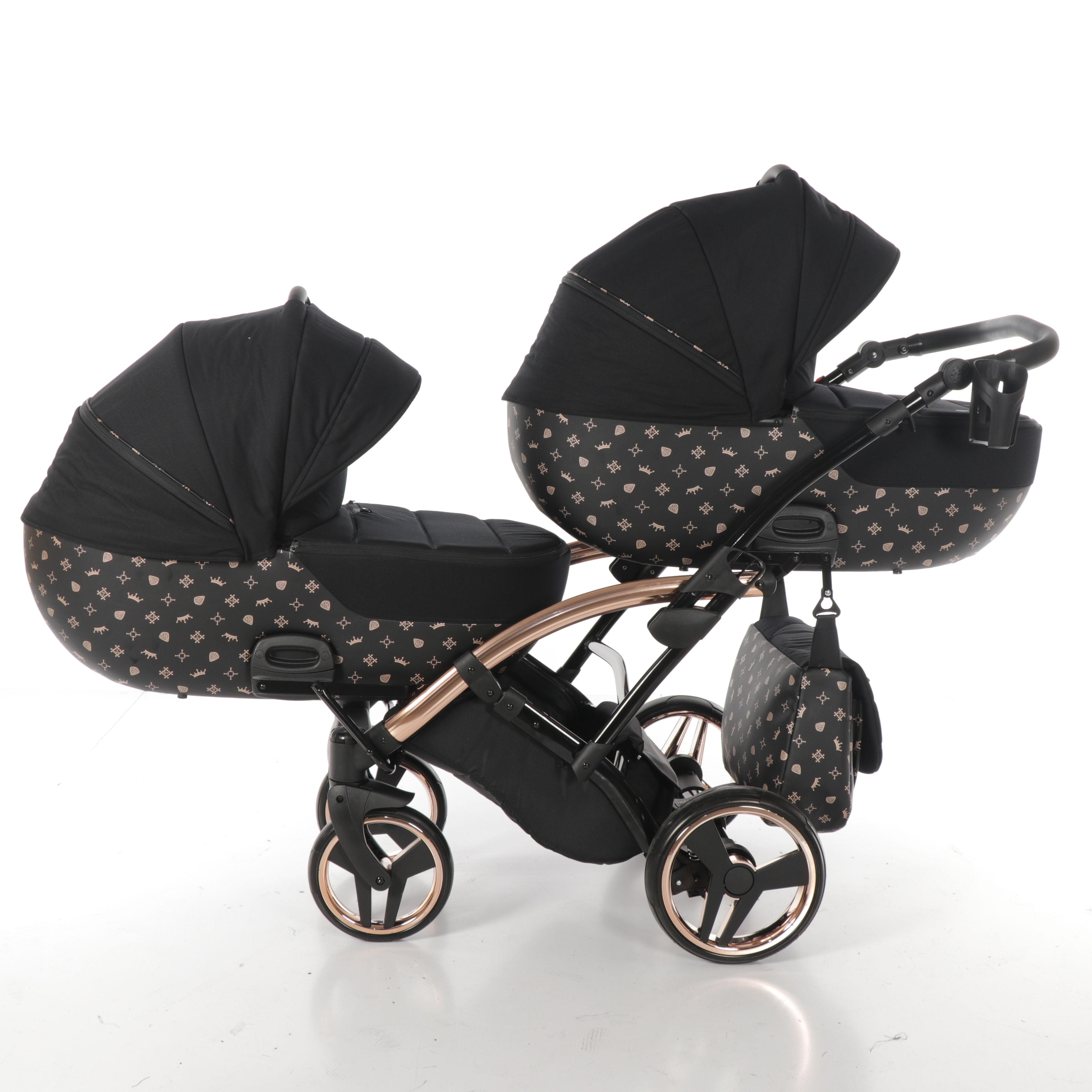 wózek bliźniaczy Imperial Laret Duo Slim Tako wielofunkcyjny dzieciecy Dadi Shop gondola spacerówka funkcje montaż