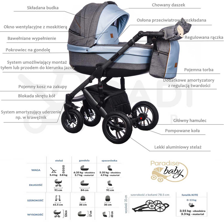 Euforia Comfort Line Paradise Baby opis wózka Dadi Shop