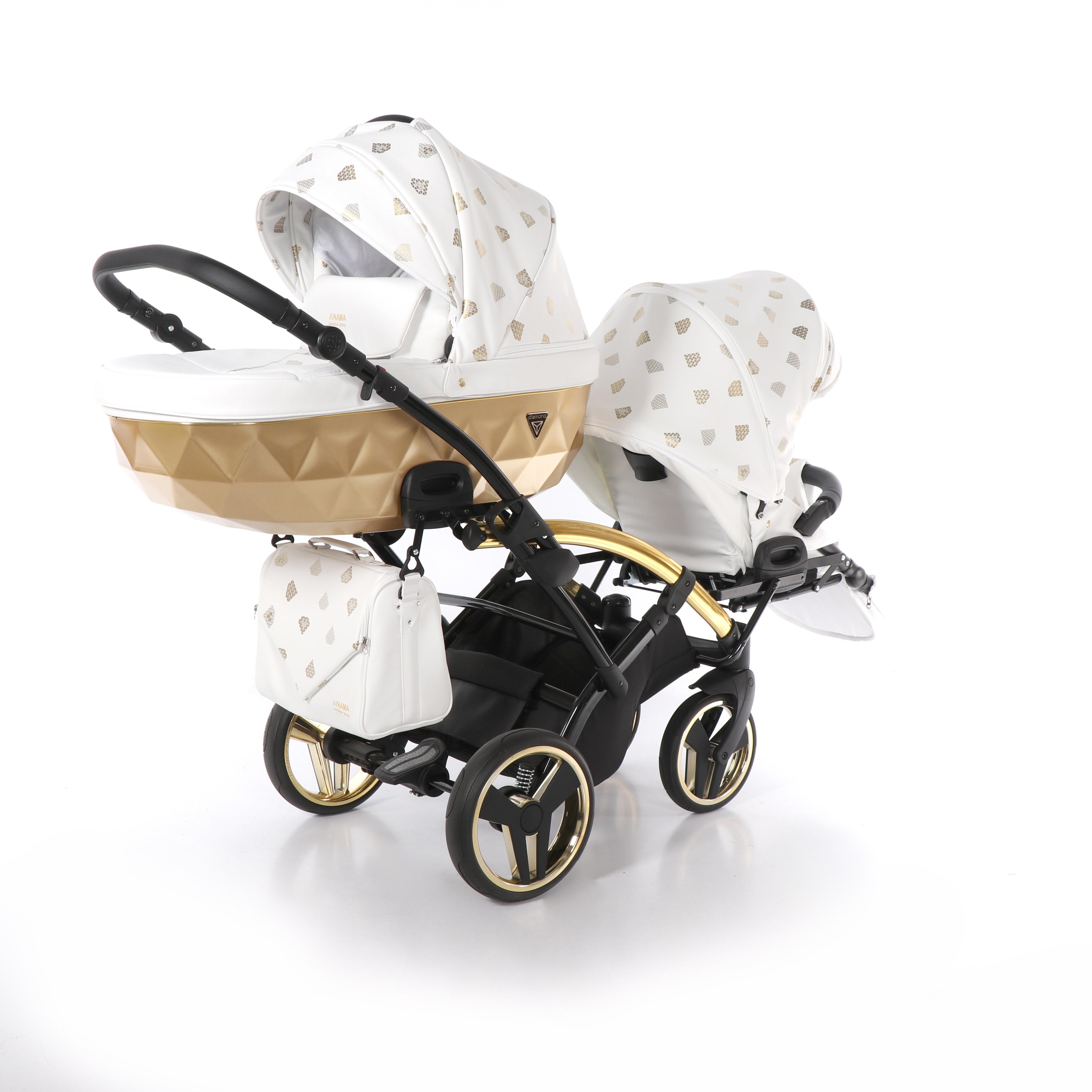 wózek bliźniaczy Junama Glow Duo Slim wielofunkcyjny