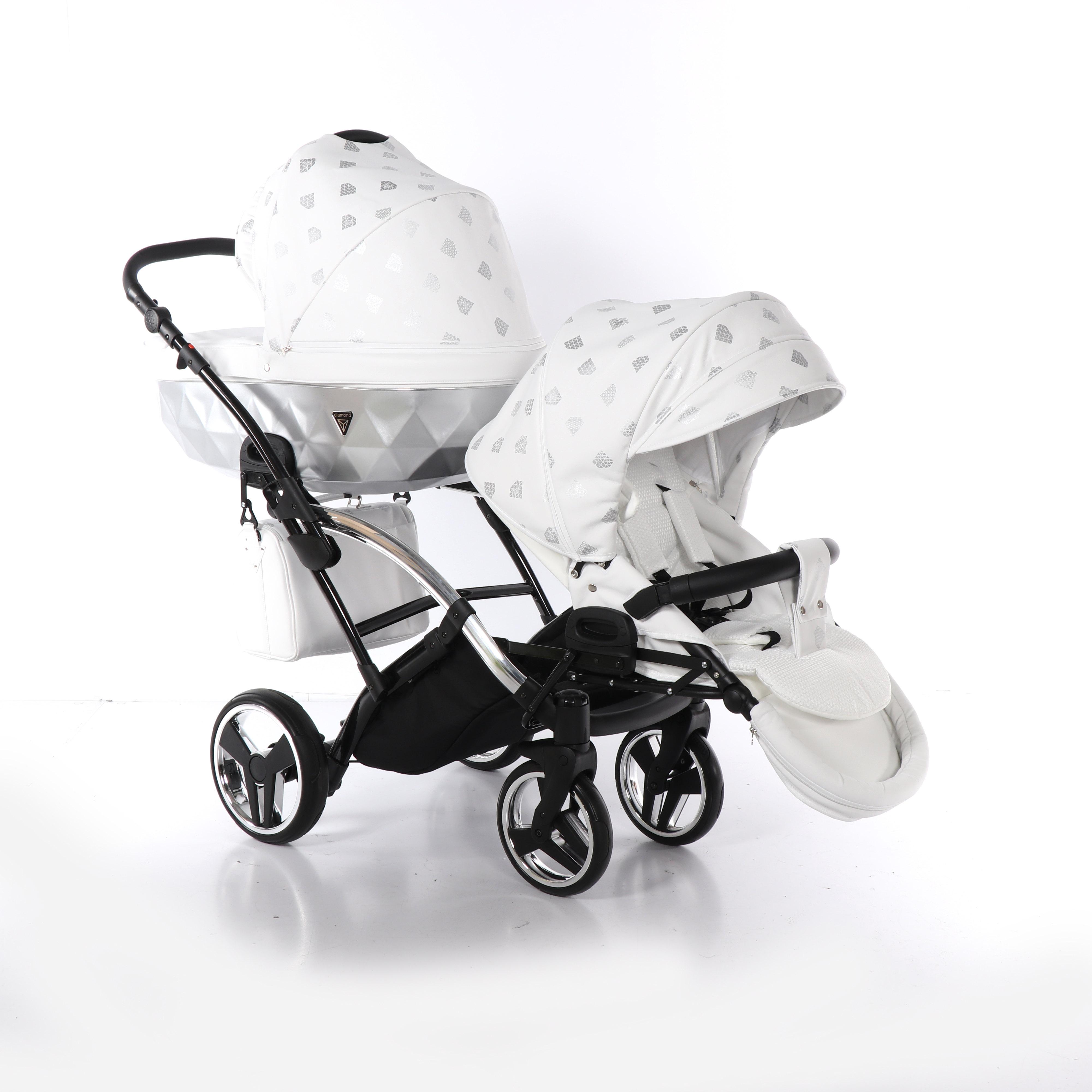wózek blixniaczy wielofunkcyjny Junama Glow Duo Slim spacerowy