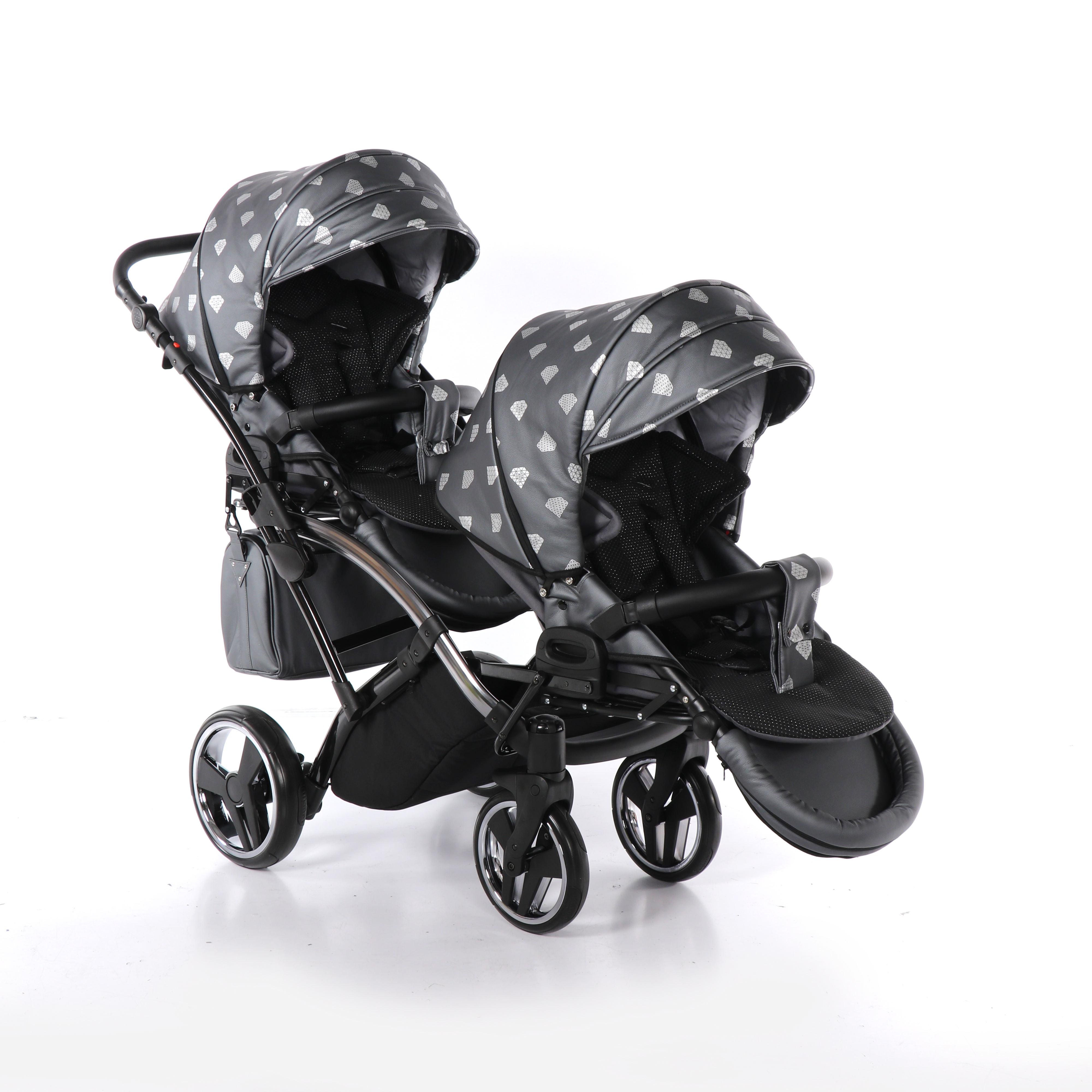 wielofunkcyjny blixniaczy wózek dzieciecy Junama Glow Duo Slim