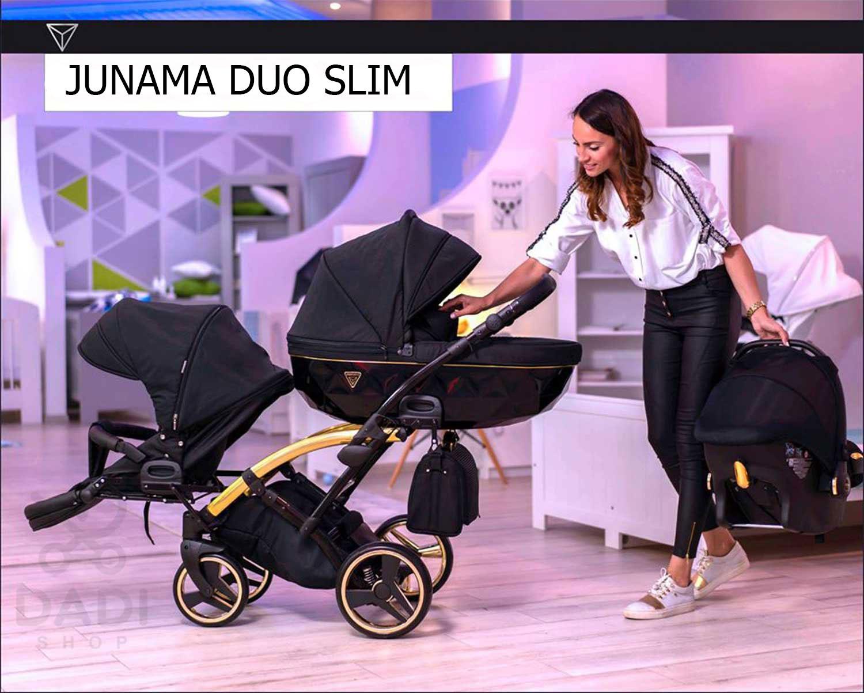 wózek bliźniaczy wielofunkcyjny Junama Duo Slim Dadi Shop