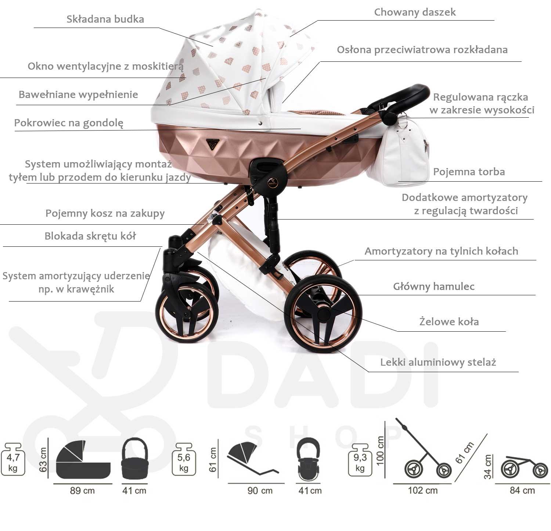 wózek dziecięcy Glow Junama opis wózka Dadi Shop