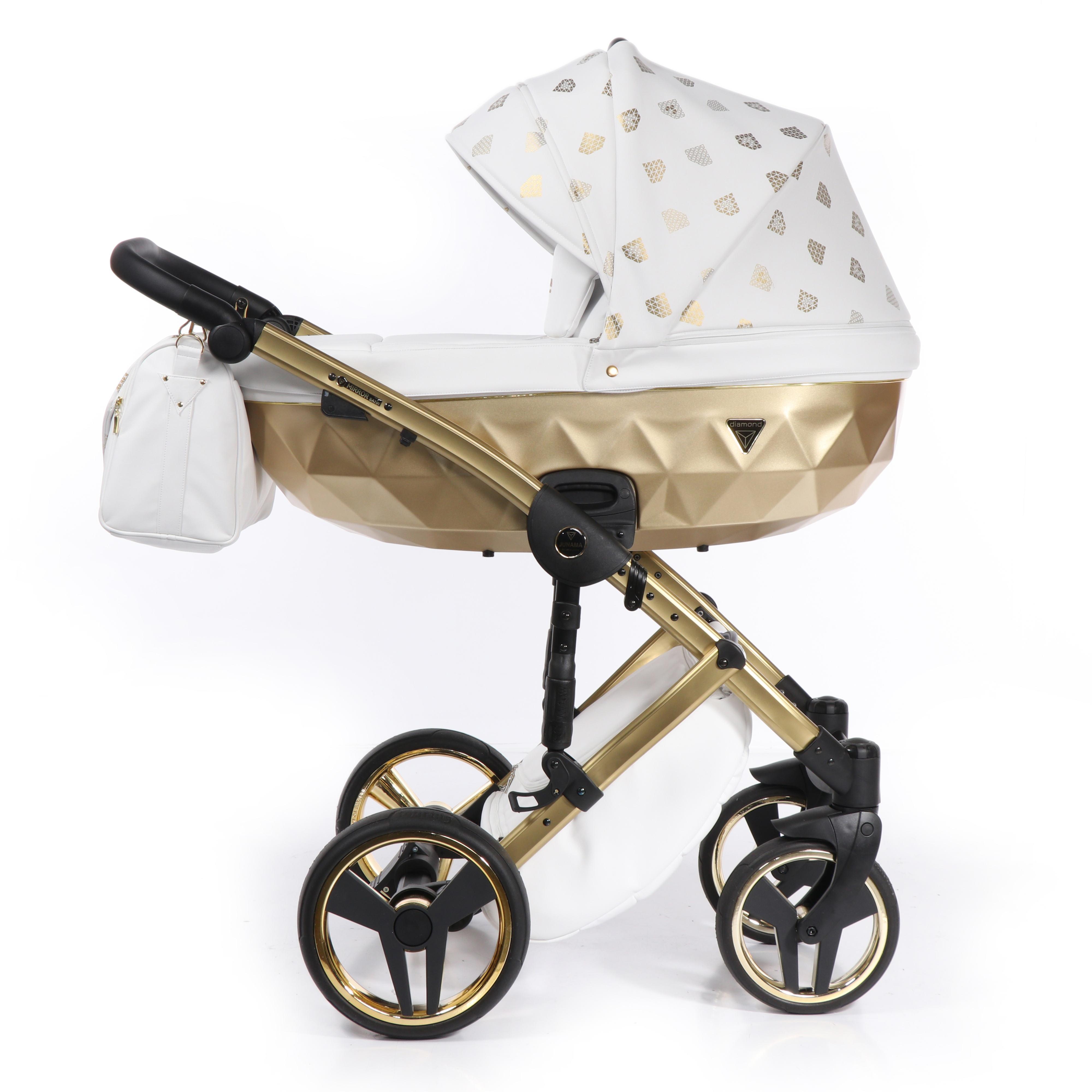 Junama Glow złoty wózek dziecięcy
