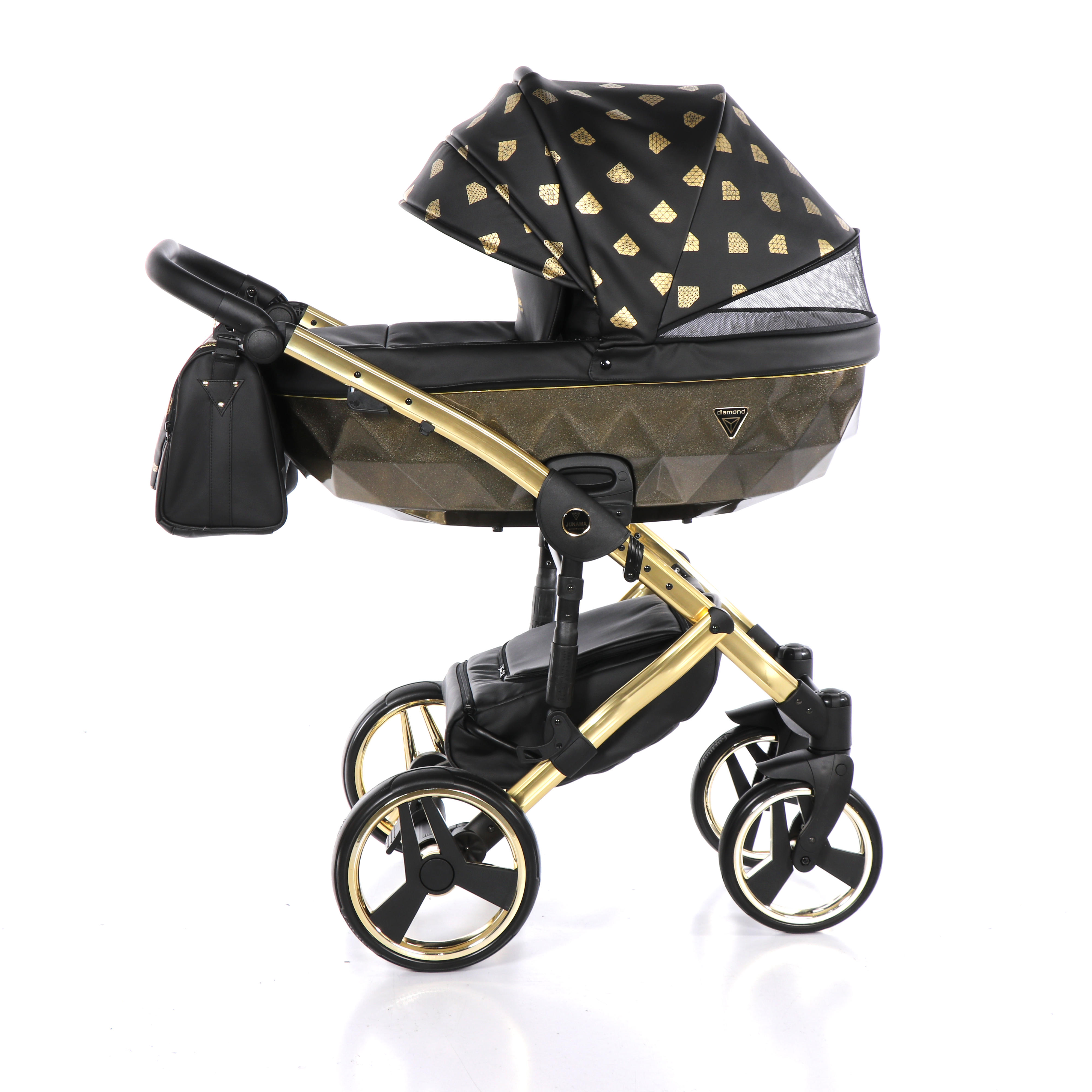 Junama Glow czarny wózek dziecięcy