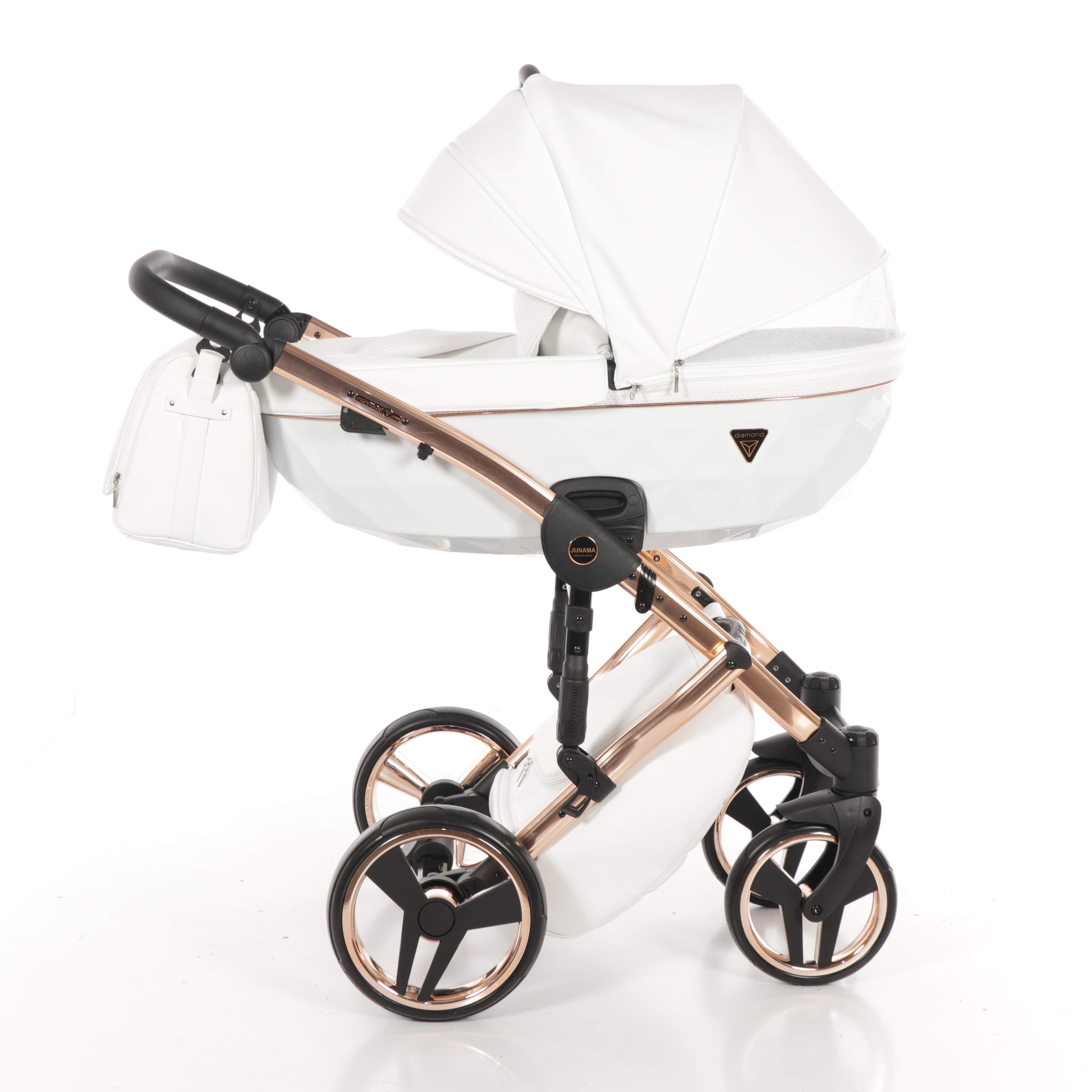 biały individual na miedzianej ramie wózek wielofunkcyjny Junama Dadi Shop