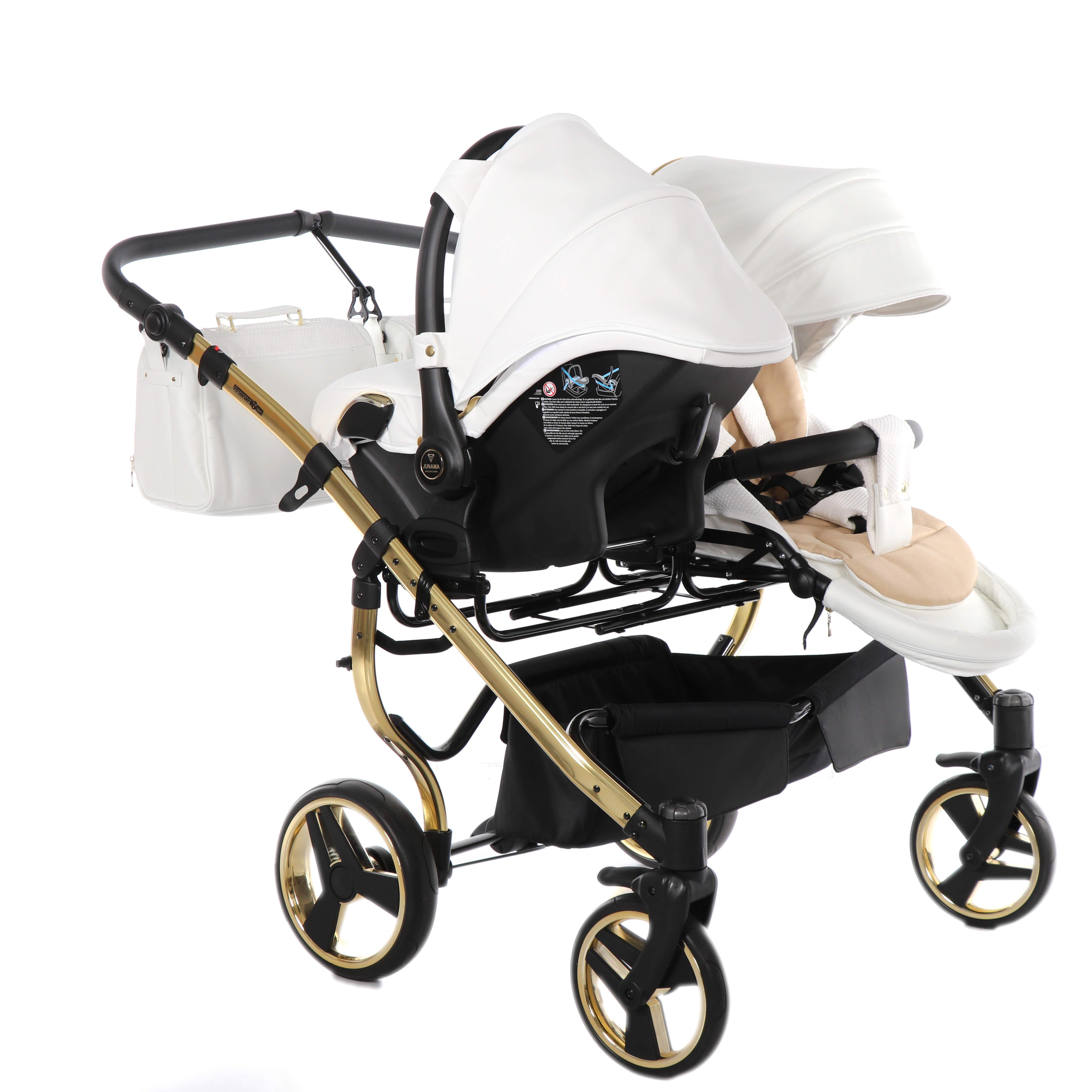 wózek bliźniaczy Junama Individual Duo fotelik spacerówka Dadi Shop