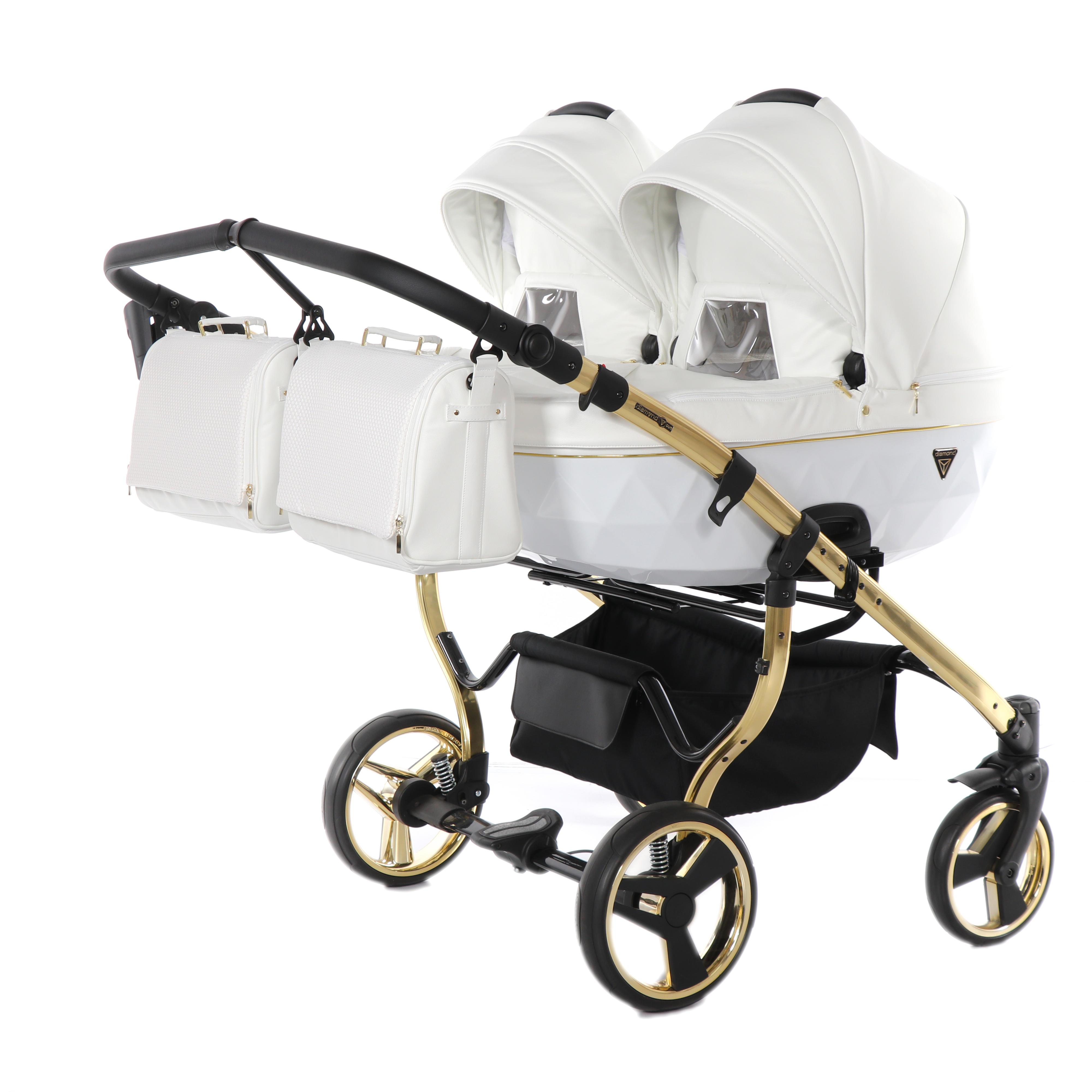 wózek blixniaczy Junama Individual Duo biały Dadi Shop