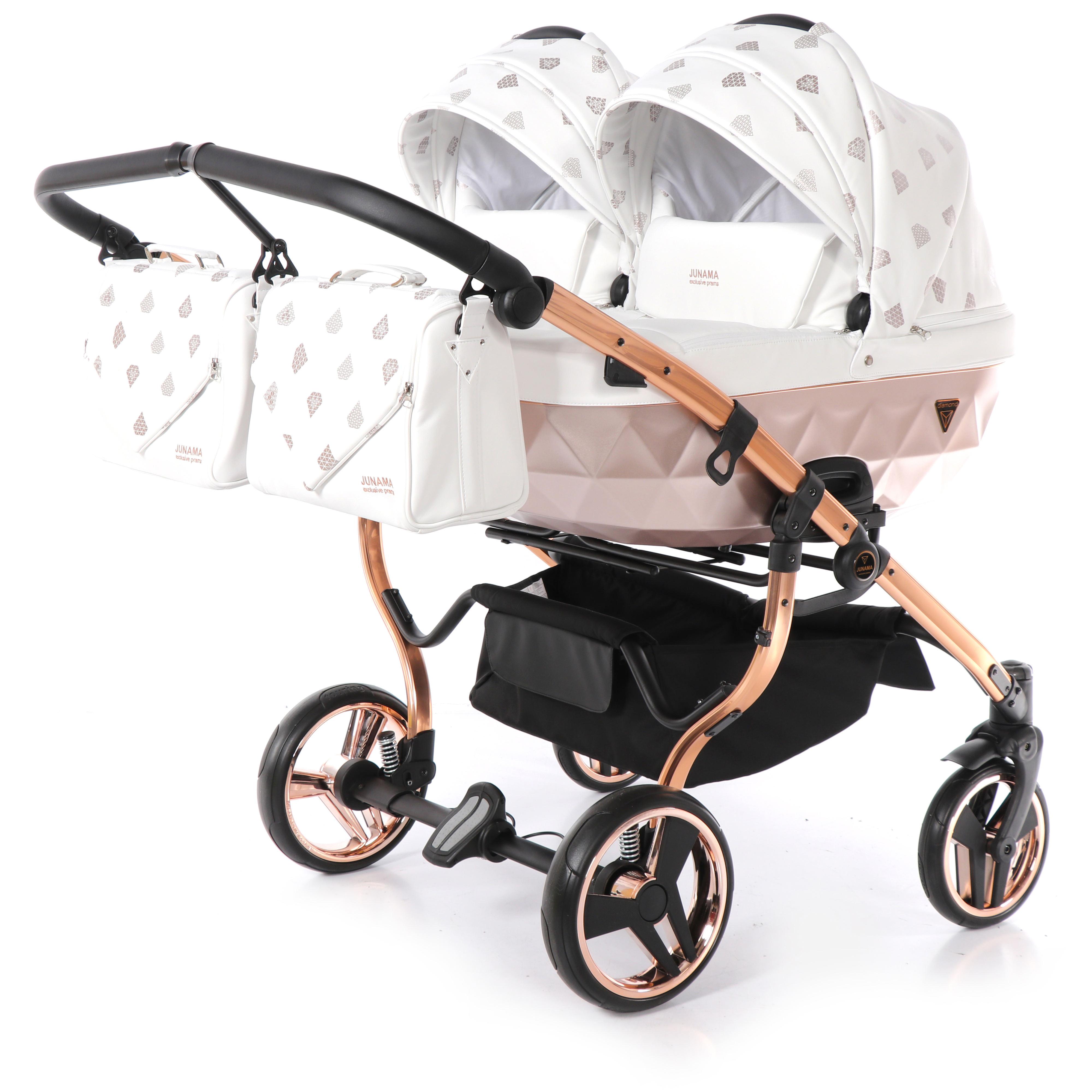 wózek dziecięcy bliźniaczy Glow Duo Junama miedziany