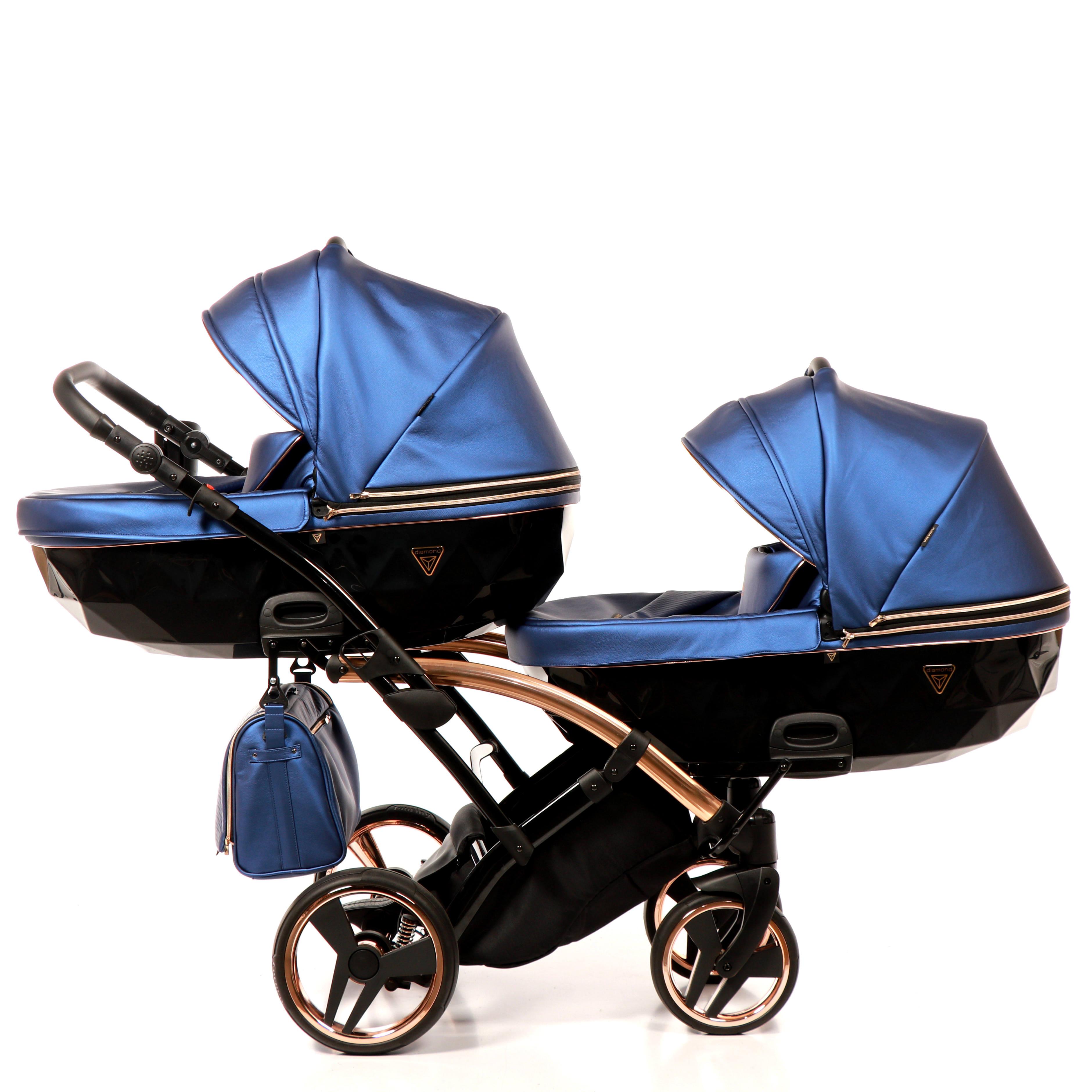 dziecięcy wózek blixniaczy Fluo Line Duo Slim Junama