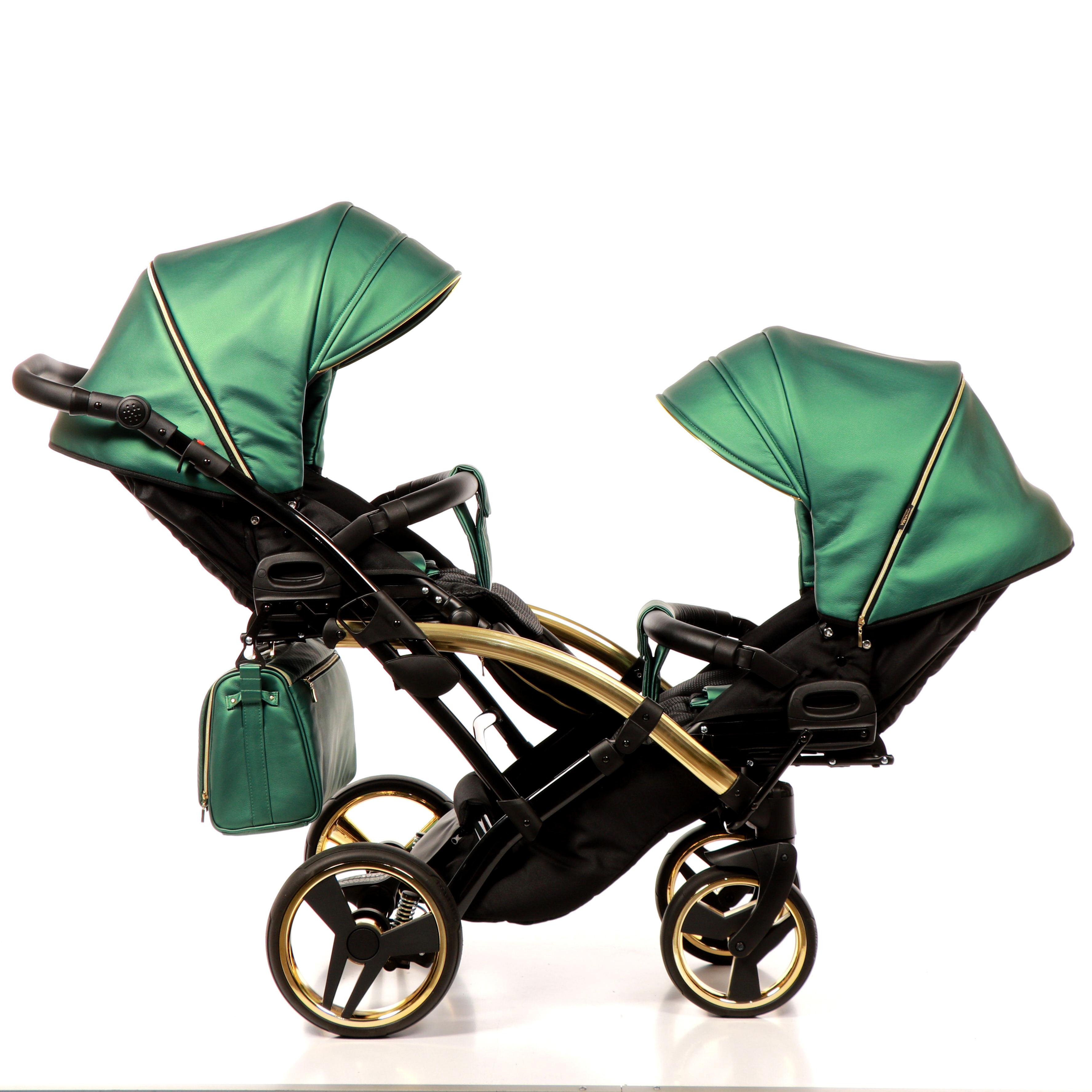 wózek bliźniaczy Junama Fluo Line Duo Slim wielofunkcyjny