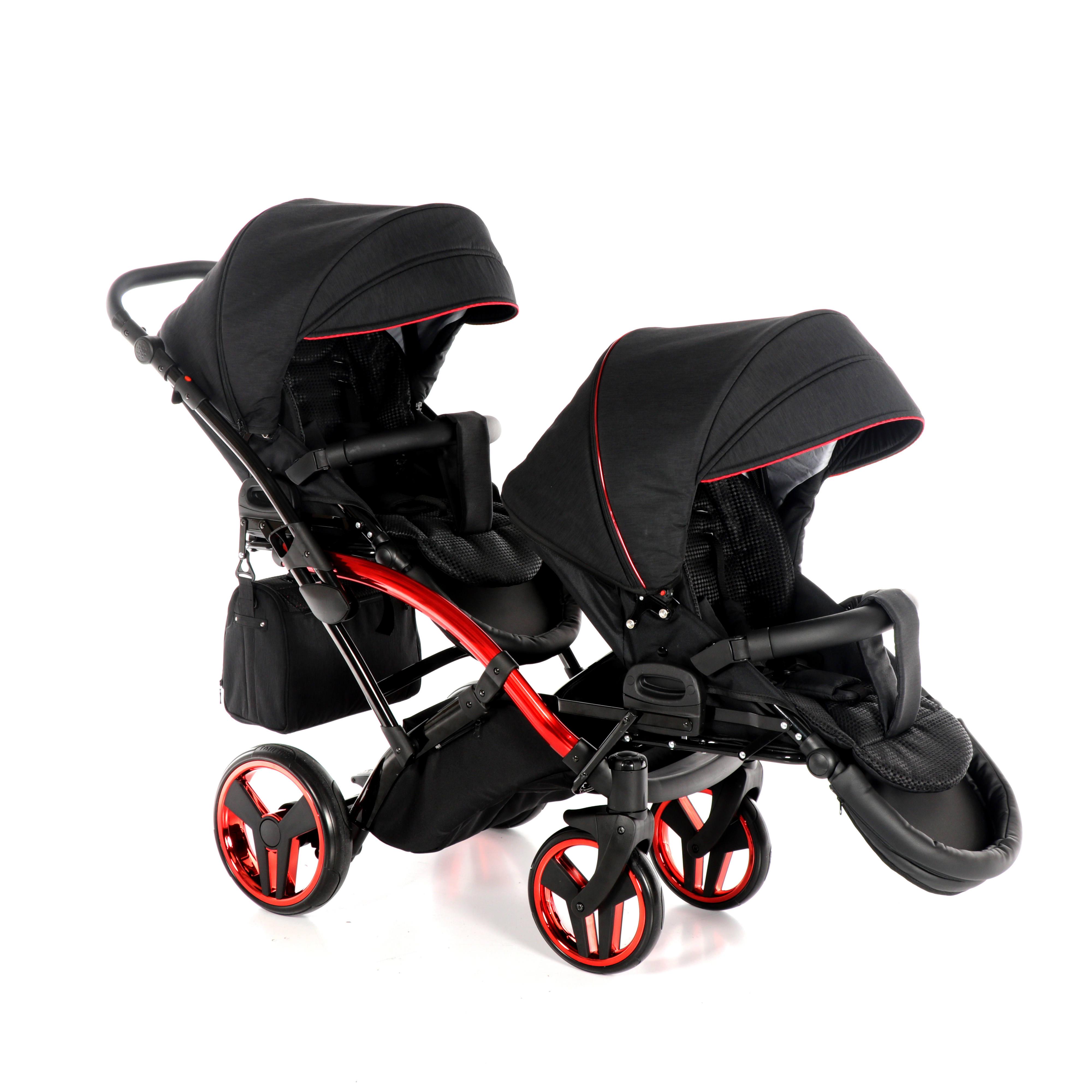 wózek bliźniaczy Junama Individual Duo Slim wersja spacerowa