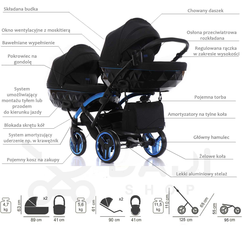 Individual Duo Slim wózek bliźniaczy opis  Dadi Shop