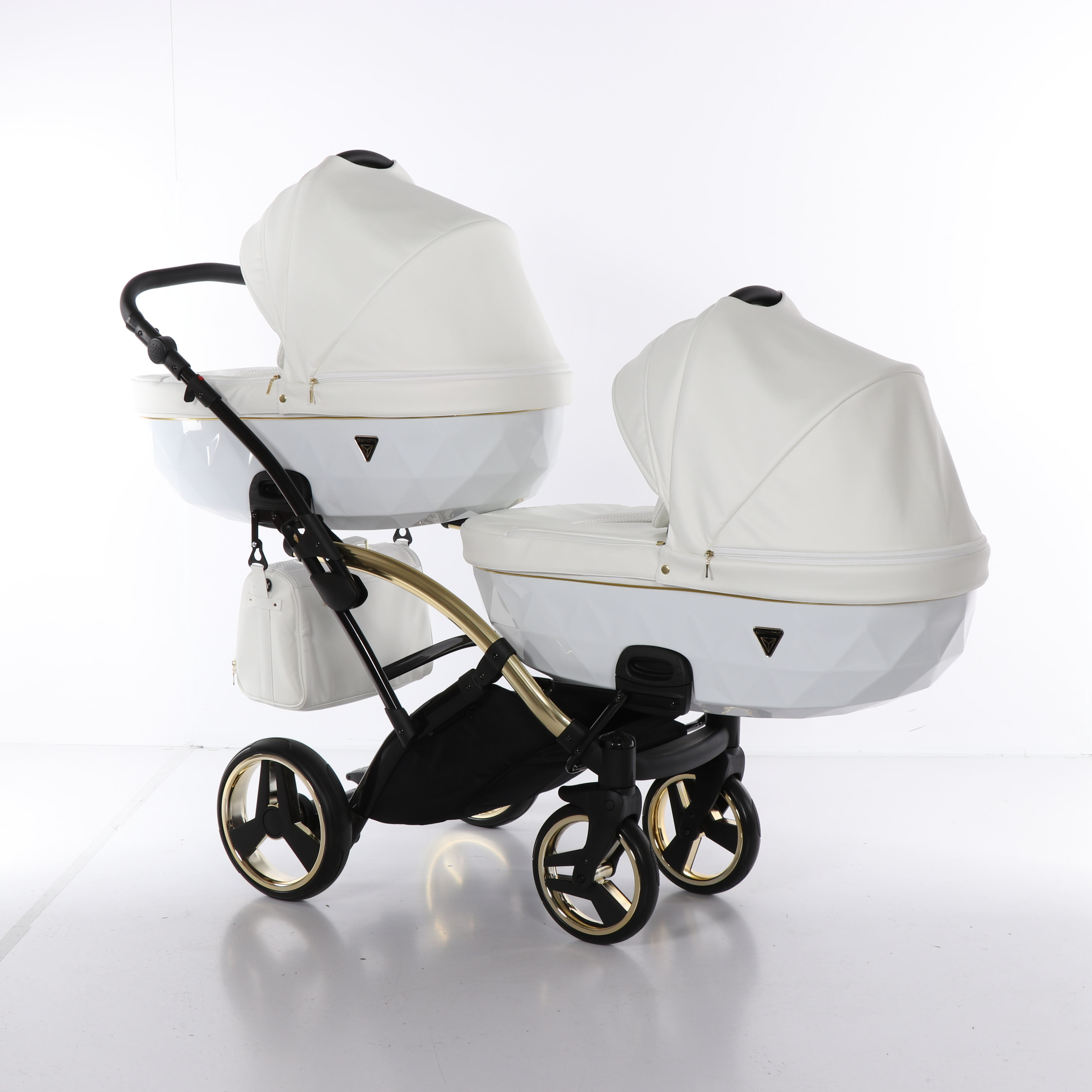 wózek wielofunkcyjny Junama Individual Duo Slim jeden za drugim bliźniaczy