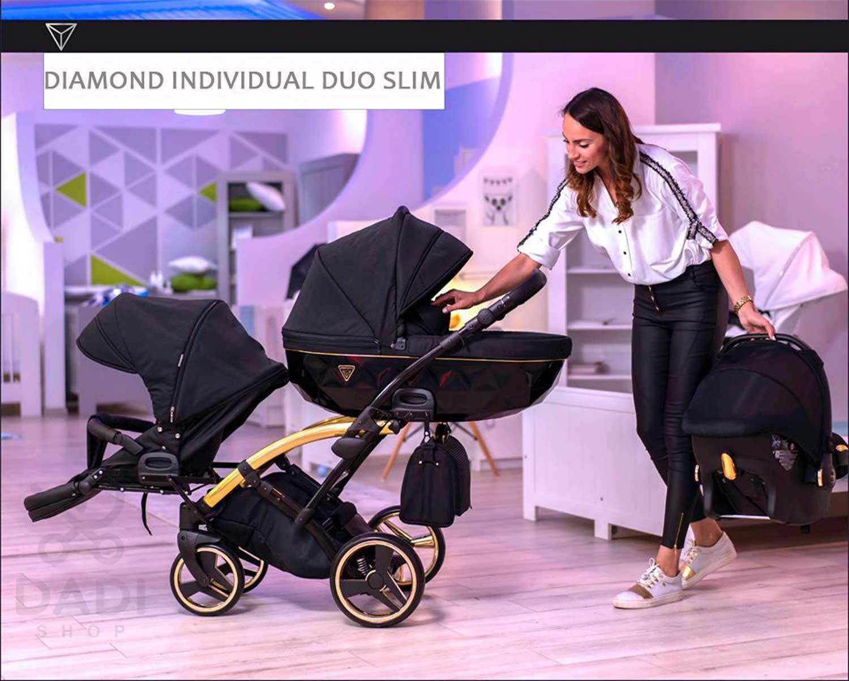 Junama Individal Duo Slim wózek bliźniaczy Dadi Shop