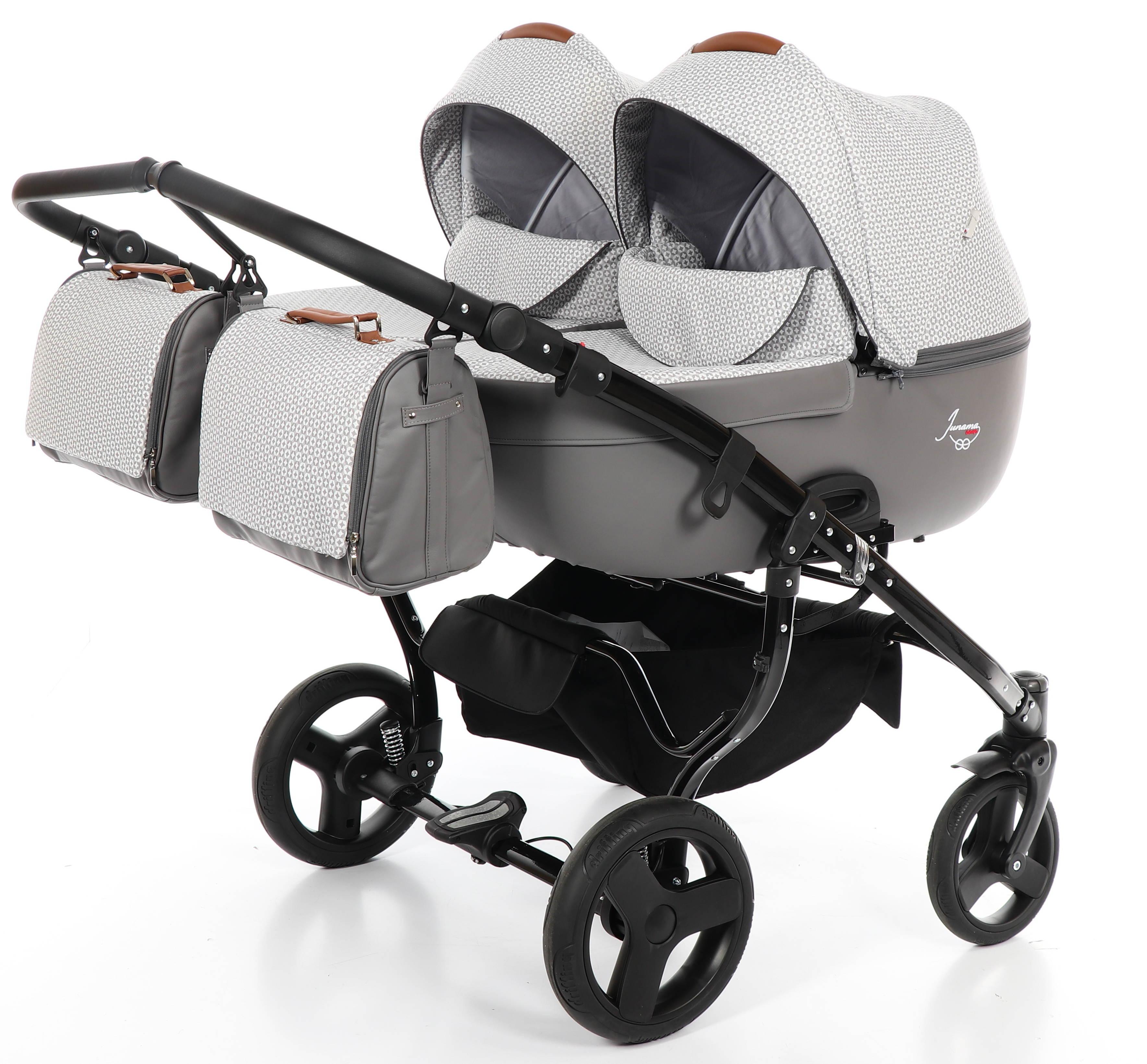 bliźniaczy wózek dziecięcy Madena Duo wielofunkcyjny Junama
