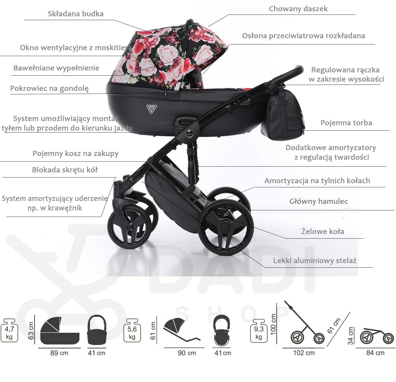 wielofunkcyjny wózek dziecięcy Madena Tineo Junama opis Dadi Shop