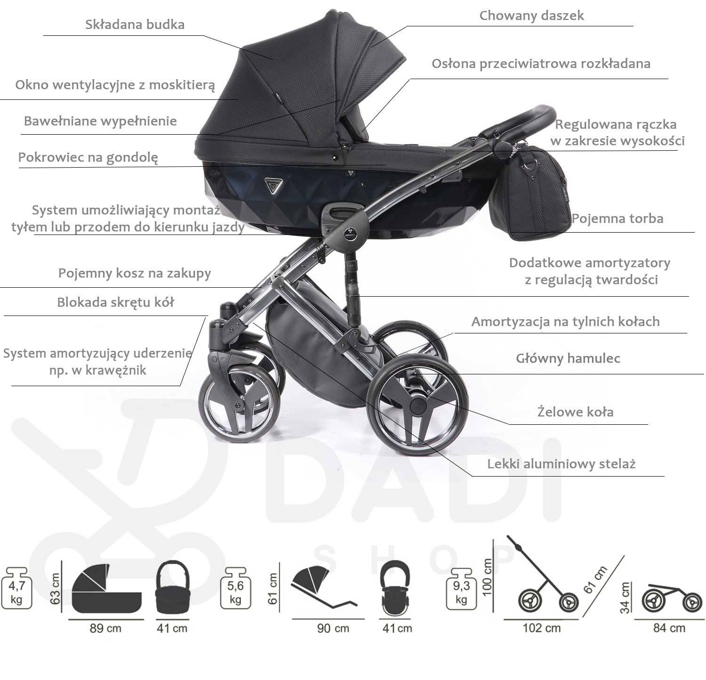 wielofunkcyjny Onyx wózek dzieciecy Junama opis Dadi Shop