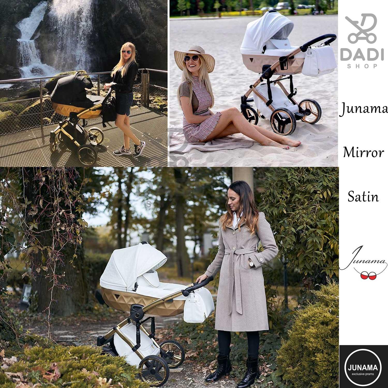 piękny wygodny wózek dziecięcy Junama Mirror Satin wieolofunkcyjny wózek Dadi Shop