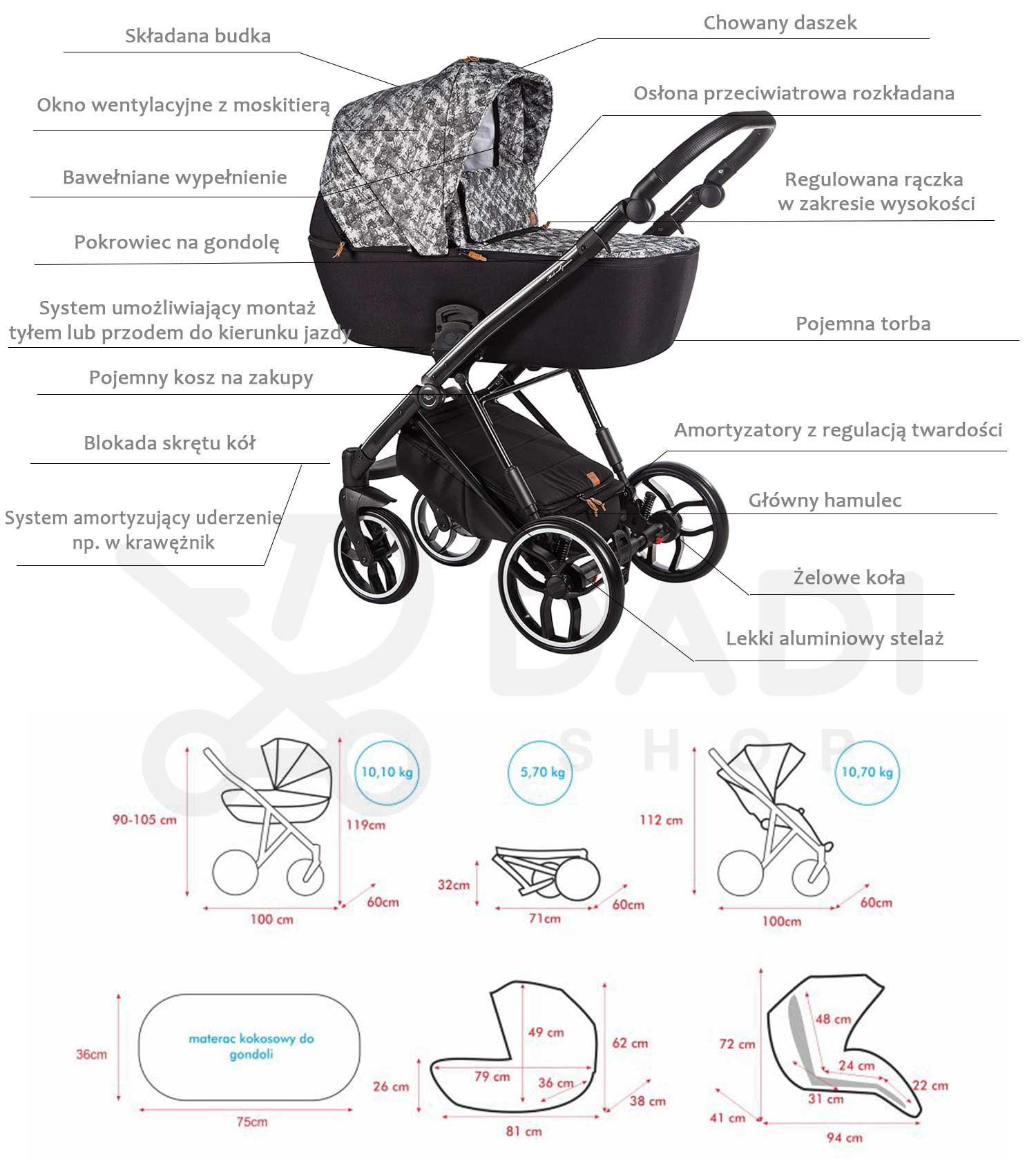 funkcje La Rosa Limited Baby Merc wózek dziecięcy