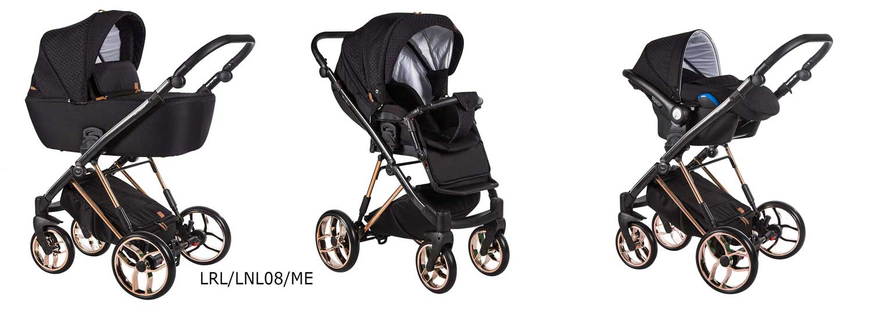 wózek wielofunkcyjny La Rosa Limited Baby Merc czarny