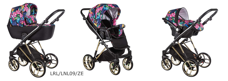 la rosa limited baby merc wózek wielofunkcyjny wzór kwiaty