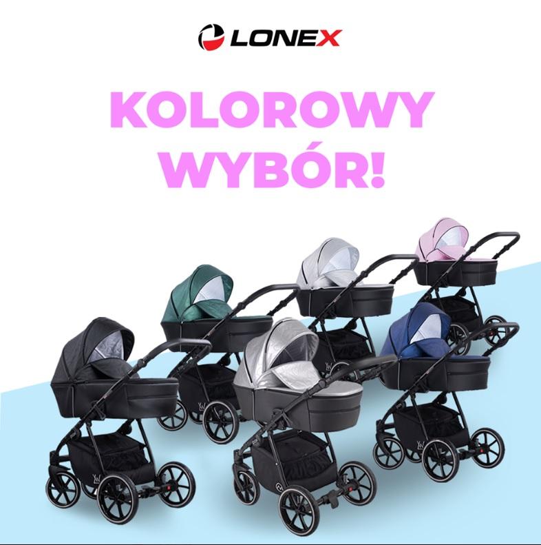 Pax Eko wózek dziecięcy wielofunkcyjny Lonex kolorystyka Dadi Shop
