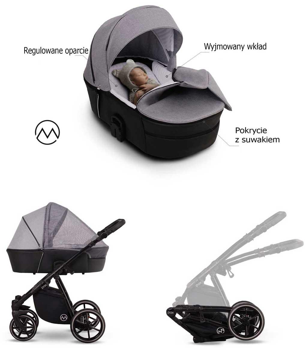 Lonex Pax wózek dzieciecy wielofunkcyjny funkcje